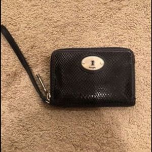 Authentic fossil wallet/wristlet